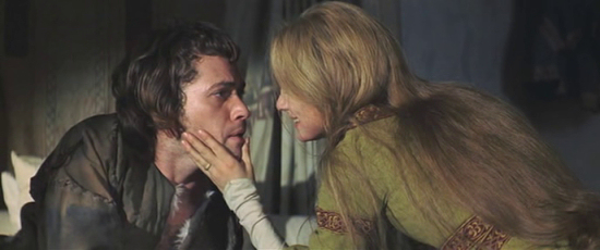 Lady Macbeth and Macbeth in Roman Polanski's rendition of the play